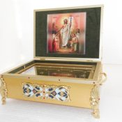 ковчег с иконой (литография)